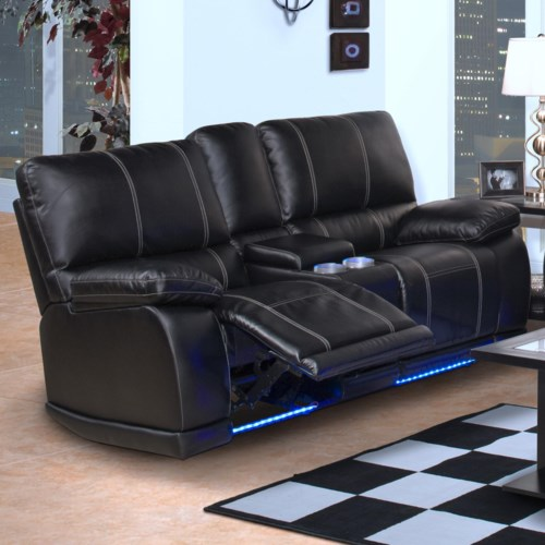 recliner with cup holder New Classic Electra Contemporary Dual Recliner Console Loveseat  recliner with cup holder