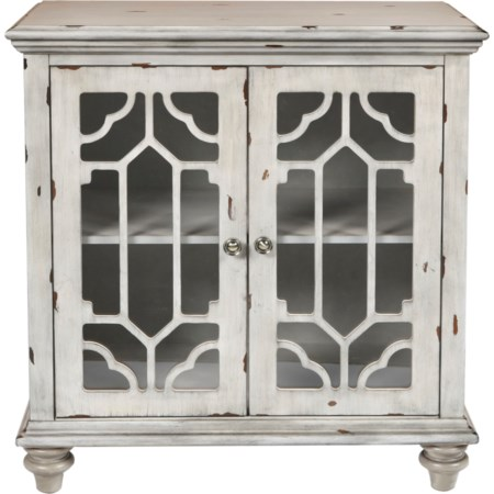 Glass Front Cabinet with Doors