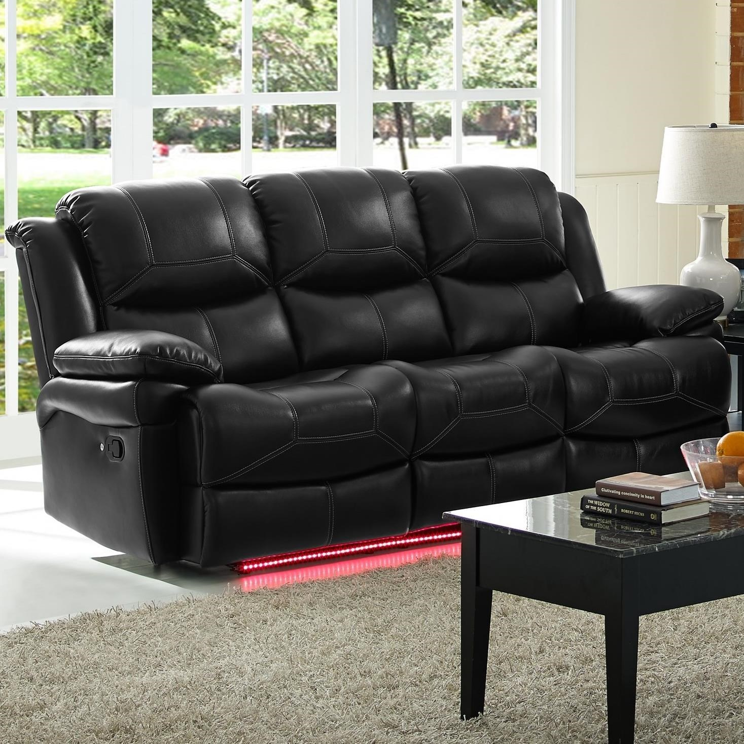 New Classic Flynn Contemporary Reclining Sofa With Pillow Arms