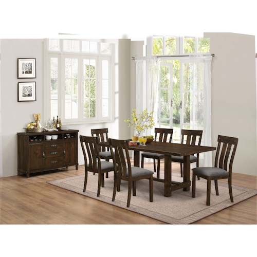 Dining Room Group Frisco By New Classic Wilcox Furniture Formal Dining Room Group Corpus