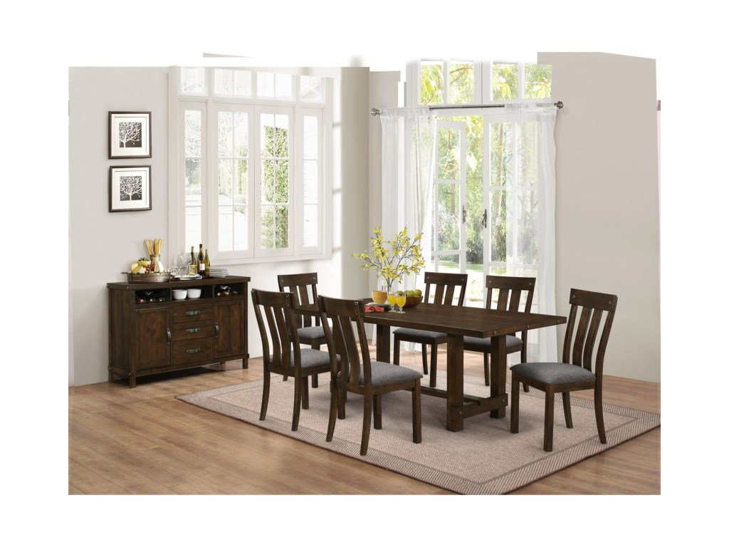 New Classic Frisco7 Piece Dining Table Set