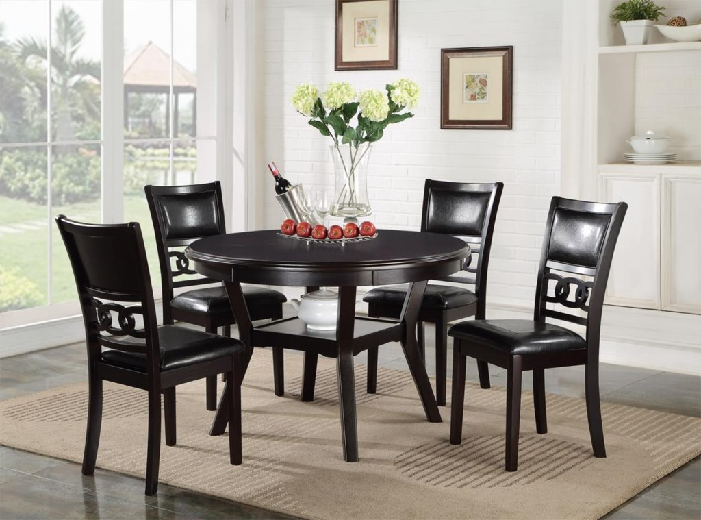 new classic gia dining table and chair set with 4 chairs and new classic gia d1701 50s dining table and chair set with 4 chairs and circle motif
