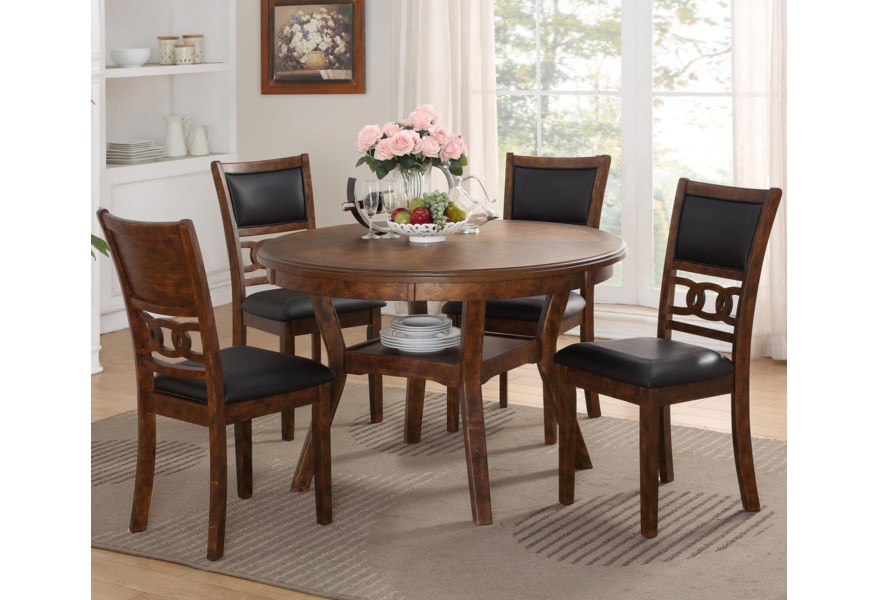 New Classic Gia Contemporary 5-Piece Dining Table and Chair Set
