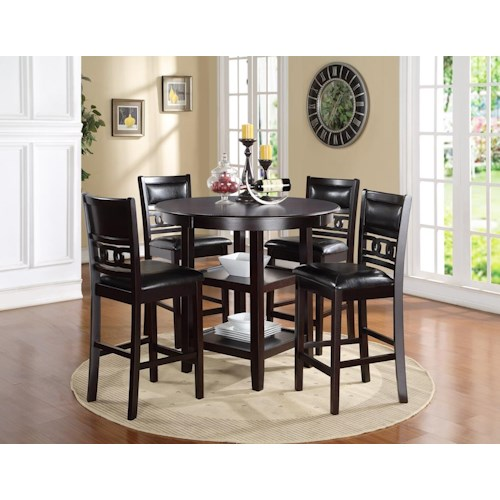 New Classic Gia Counter Height Dining Table and Chair Set with 4 ...