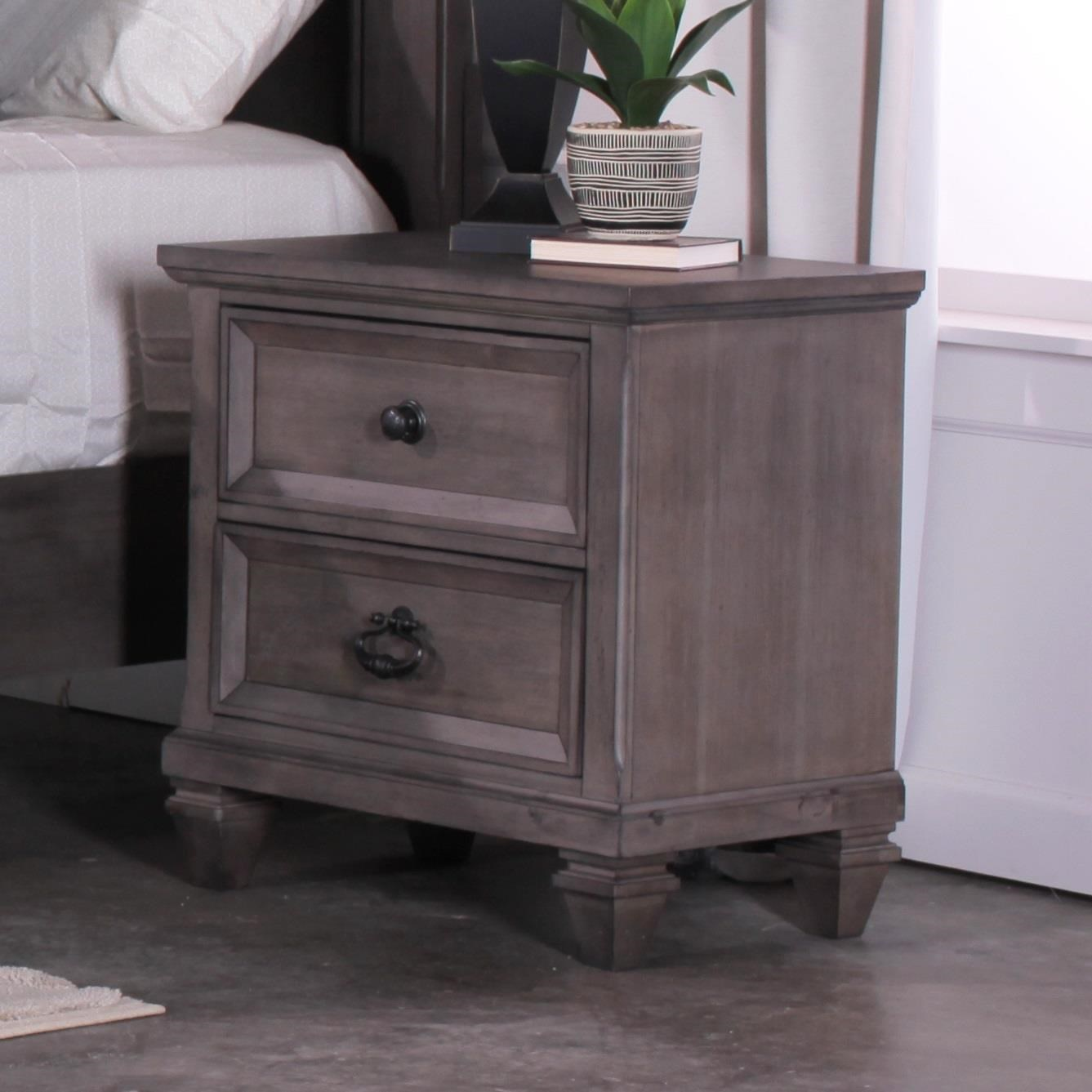 New Classic Gibraltar Nightstand With USB Chargers