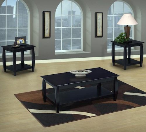 New Classic Harrison 3 Pack of Occasional Tables with One Cocktail Table and Two End Tables