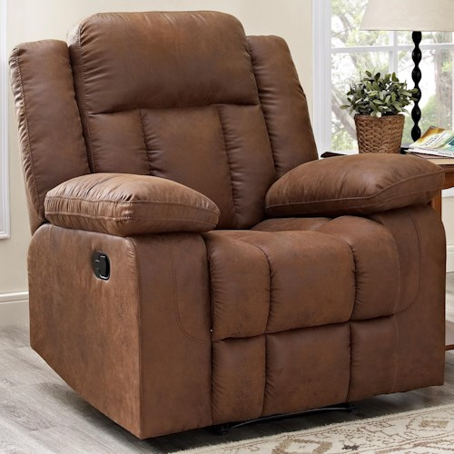 New Classic Hayes Casual Recliner with Pillow Arms