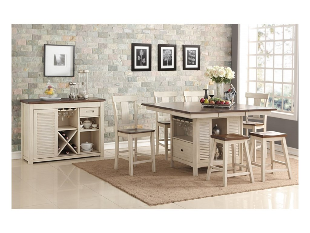 New Classic HeatherTransitional Counter Height Live Edge Table