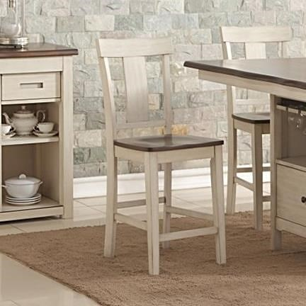 New Classic Heather Transitional Counter Chair