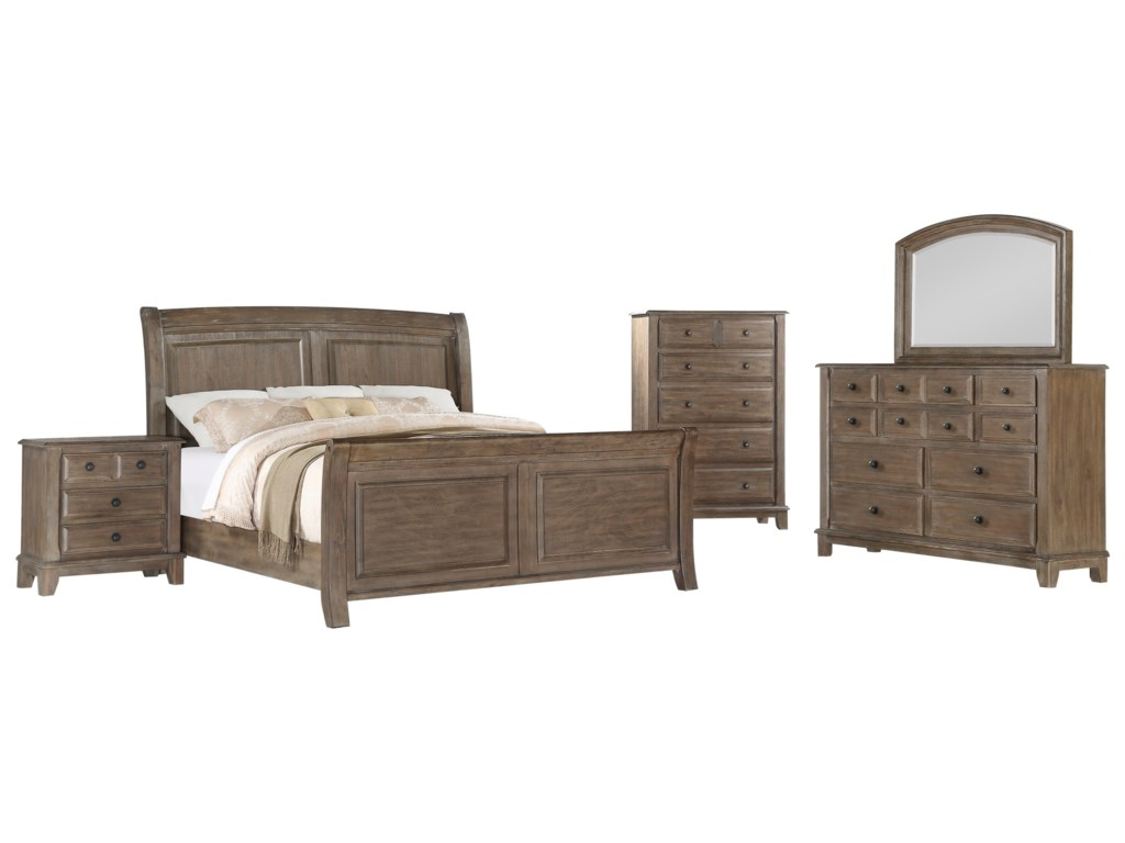 New Classic HemingwayQueen Size Bed with Raised Panels