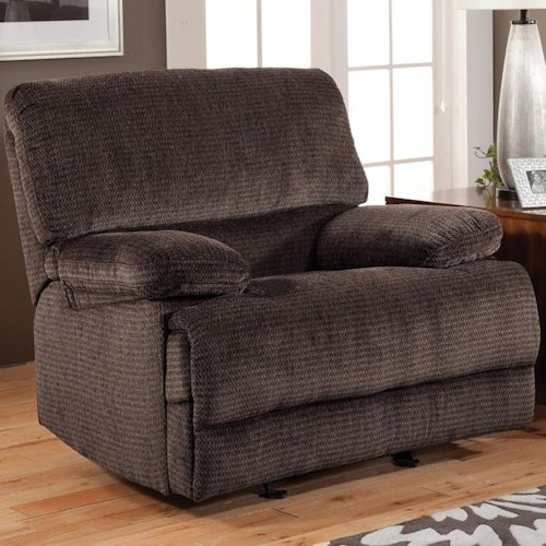 New Classic Idaho Casual Reclining Glider Recliner with Pillow Top Arms