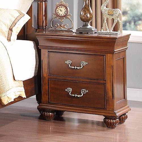Burbank 2 drawer nightstand walker 39 s furniture night for Furniture wenatchee