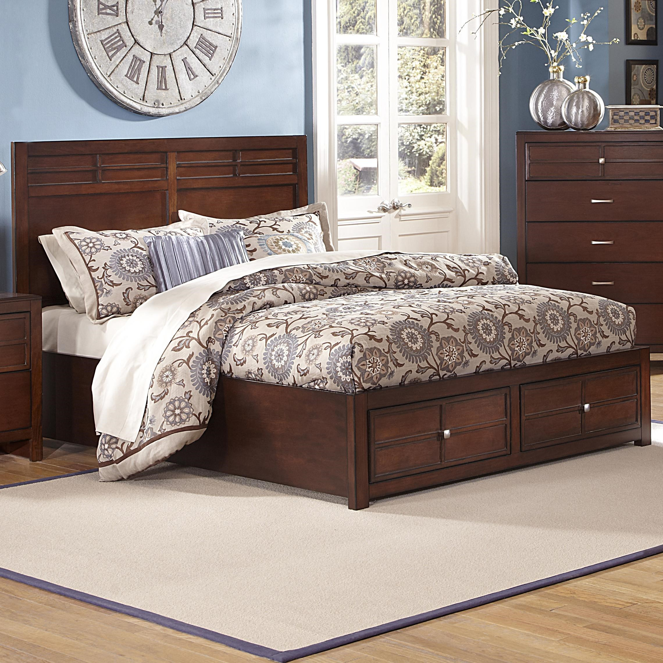 New Classic Kensington Queen Low Profile Bed With Storage Footboard