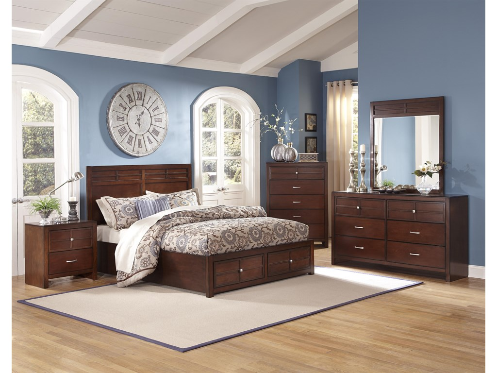 Shown with Nightstand, Chest, Dresser, and Mirror