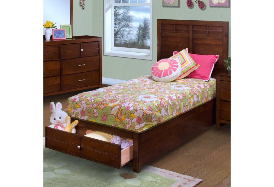 New Classic Kensington Full Low Profile Bed With Storage Footboard A1 Furniture Mattress Platform Beds Low Profile Beds