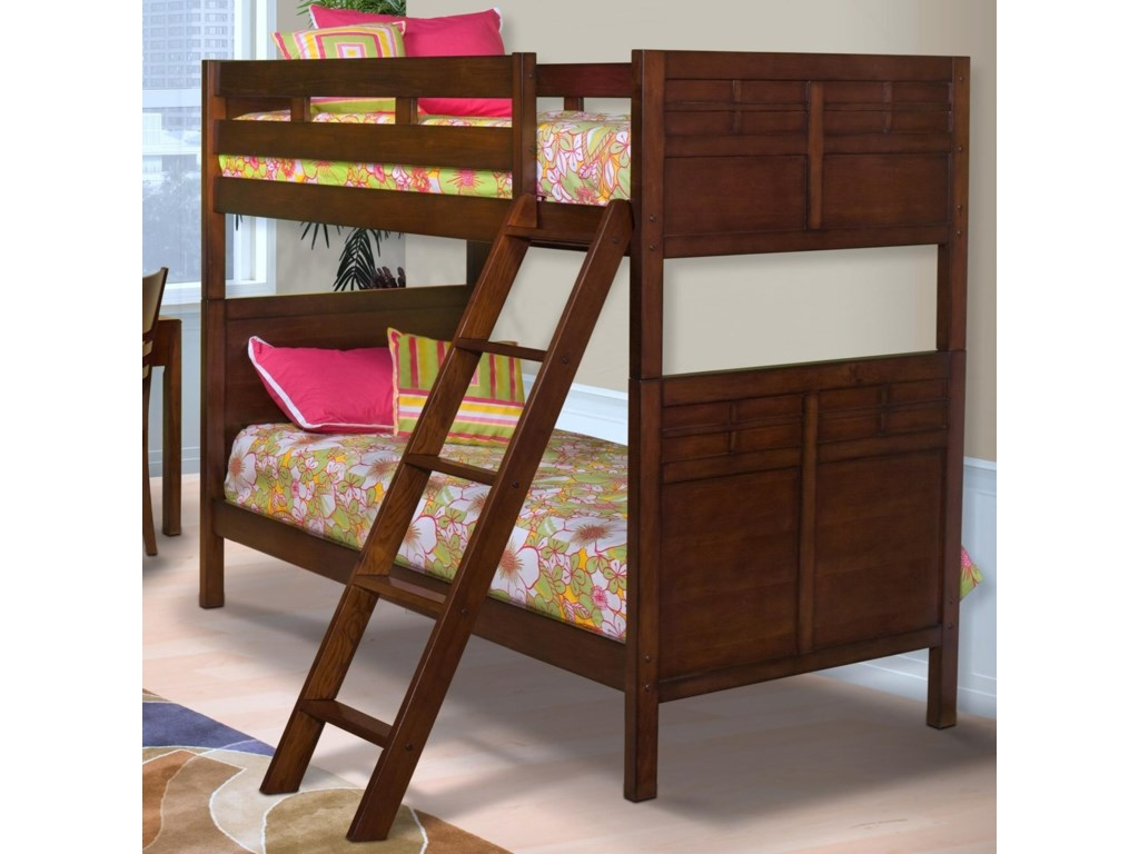 New Clic Kensington Twin Full Bunk Bed With Panel Headboard And Footboard
