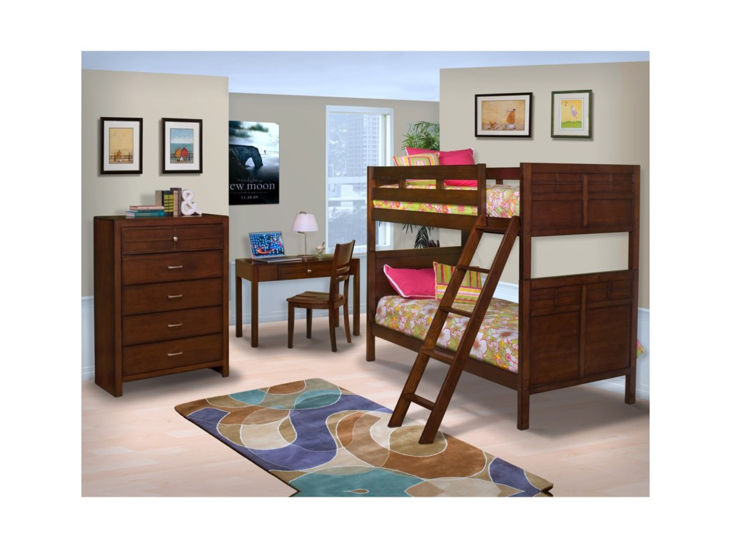 New Classic KensingtonTwin/Full Bunk Bed Bedroom Group