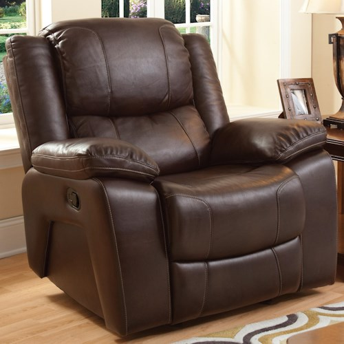 New Classic Brooke Casual Gliding Recliner with Pillow Arms