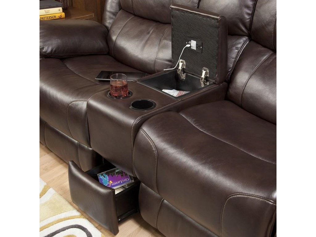 New Classic KenwoodDual Recliner Console Loveseat