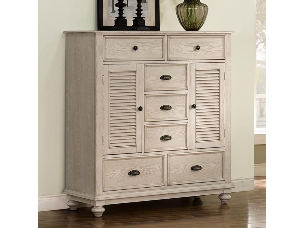 New Classic Lakeport White DriftwoodMule Chest