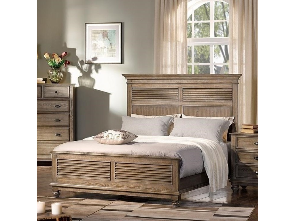 New Classic Lakeport PewterQueen Headboard and Footboard Bed