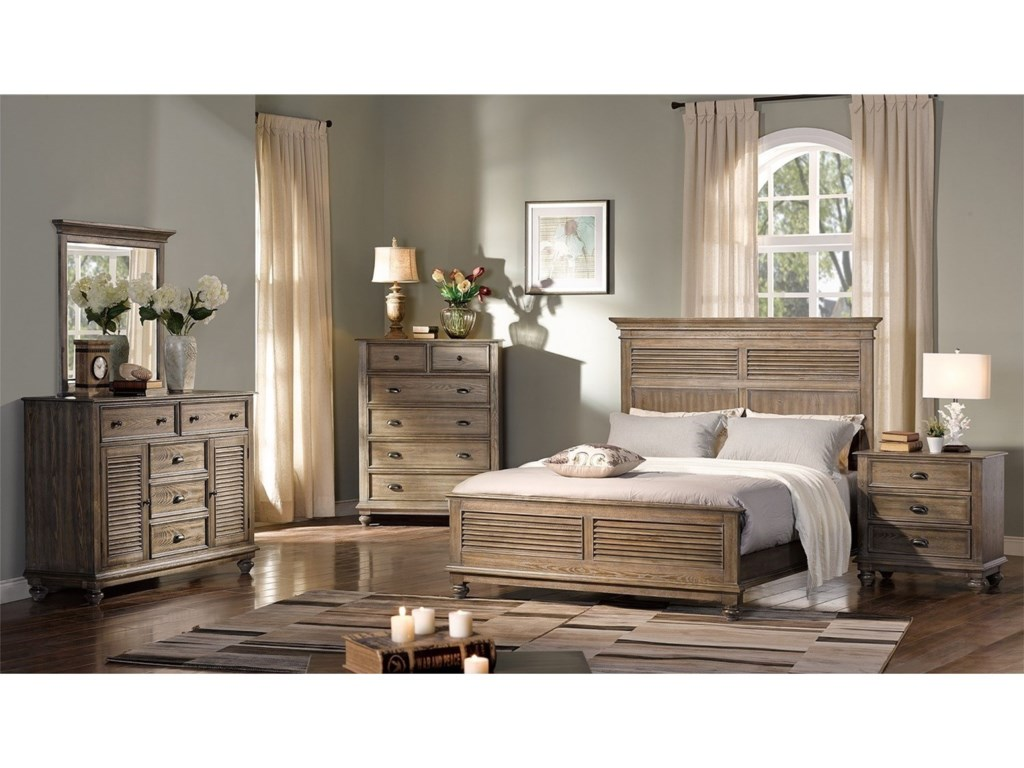 New Classic Lakeport PewterQueen Bedroom Group