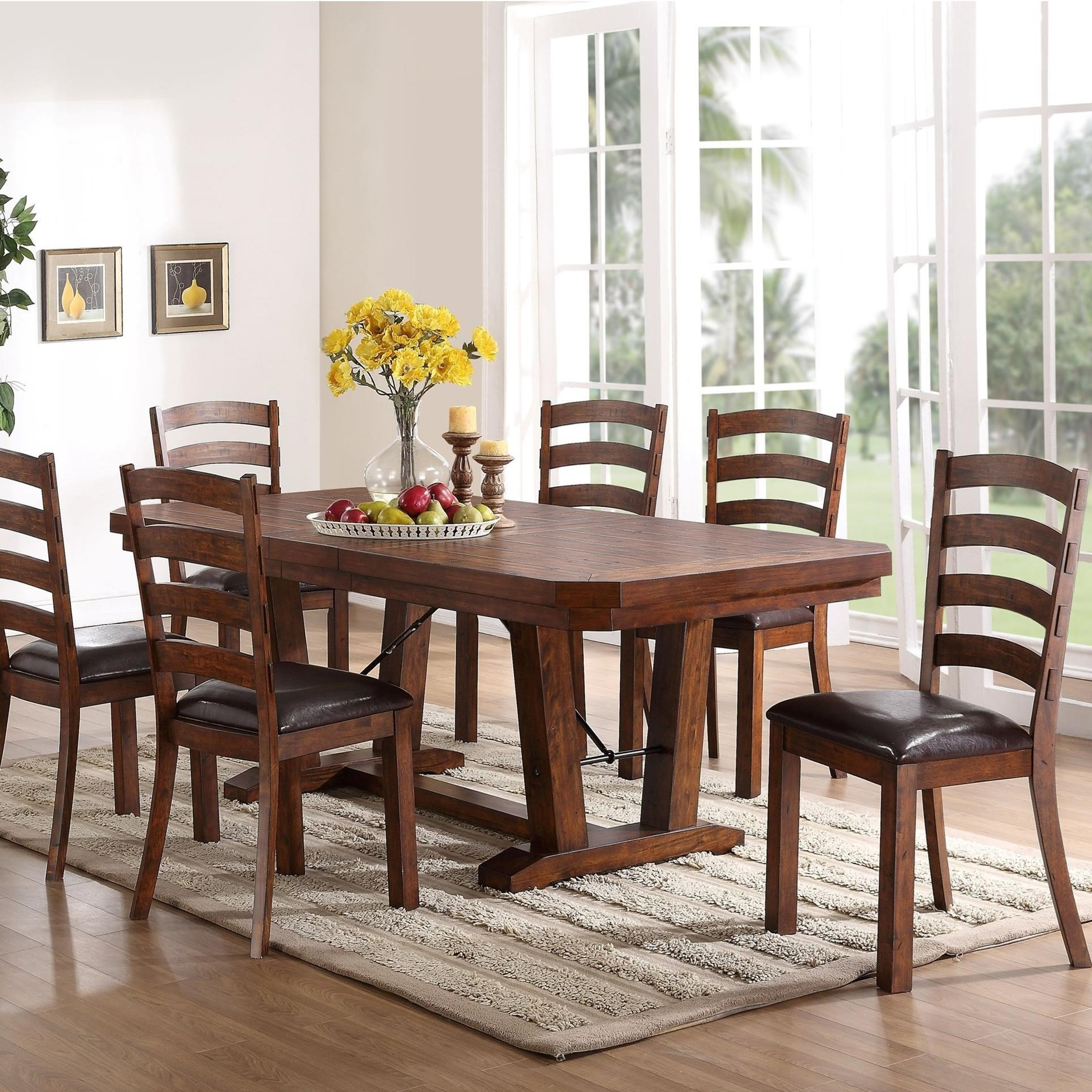 7 piece dining table harvey norman new classic lanesboro piece dining table and ladder back chair set