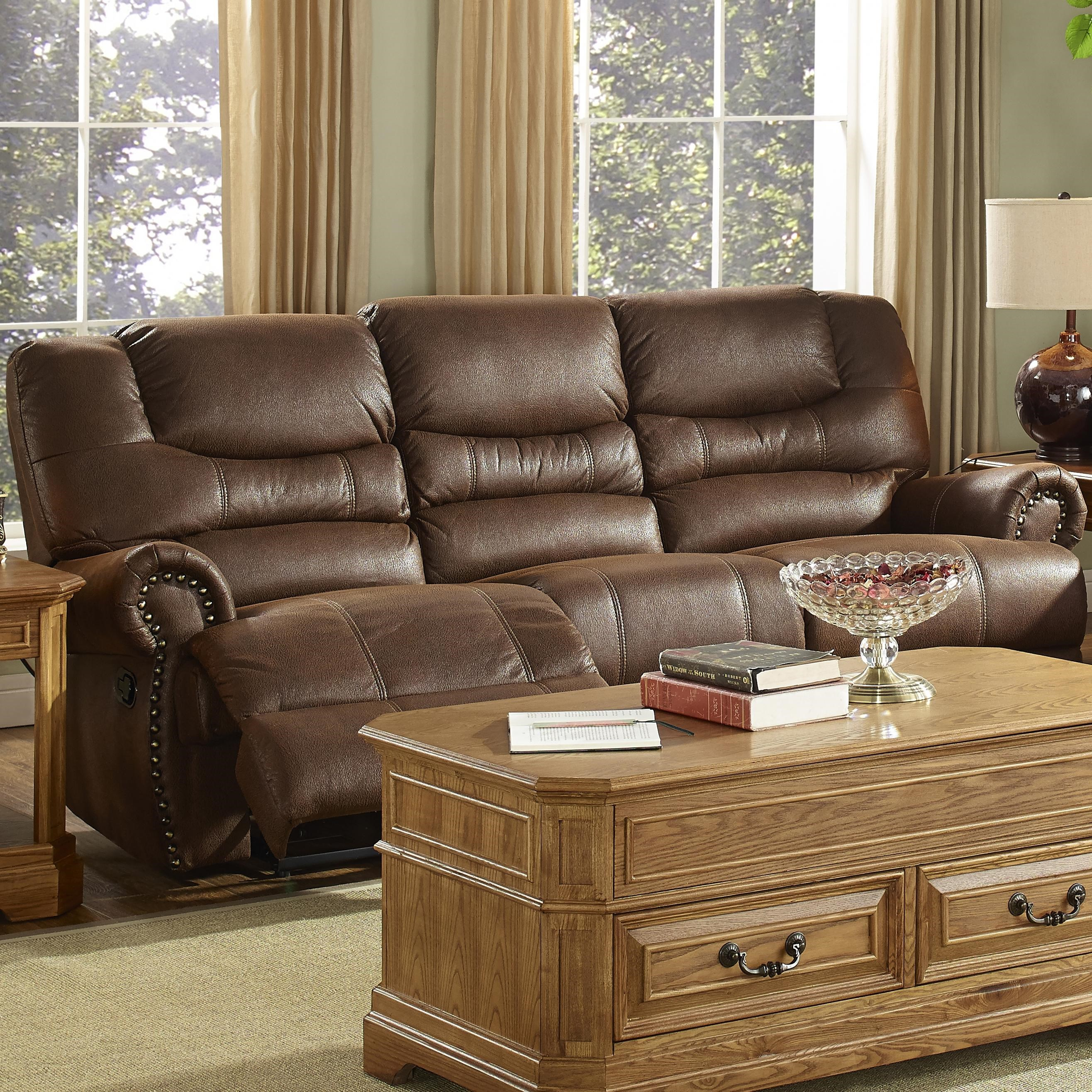 New Classic Laredo Traditional Dual Power Reclining Sofa with Rolled Arms & New Classic Laredo Traditional Dual Power Reclining Sofa with ... islam-shia.org