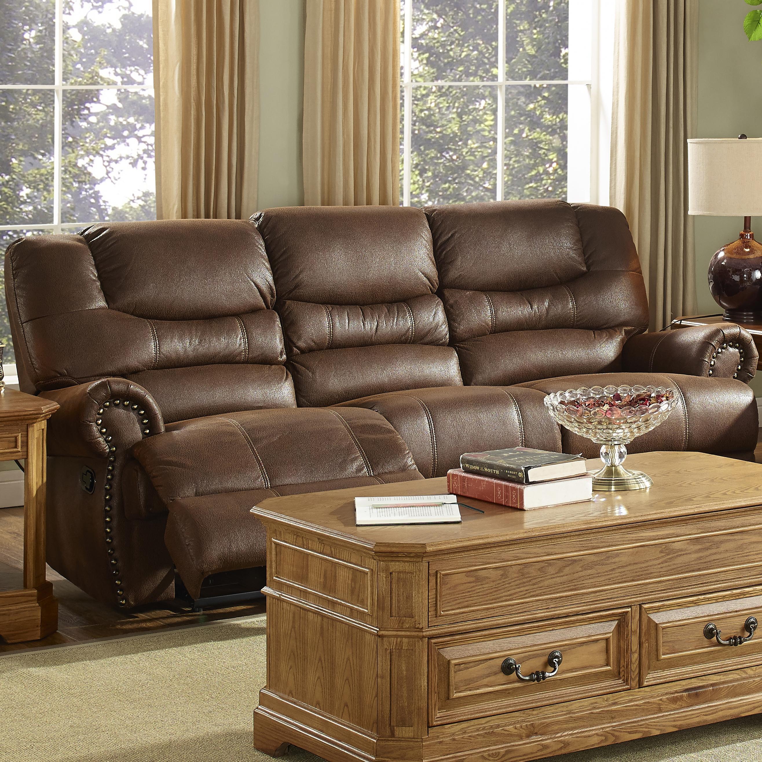 New Classic LaredoTraditional Dual Reclining Sofa
