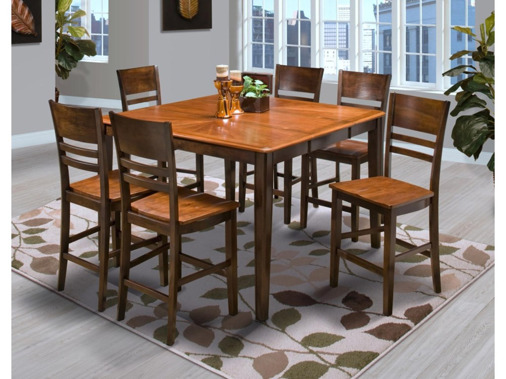 New Classic LatitudesCounter Table with 6 Counter Chairs