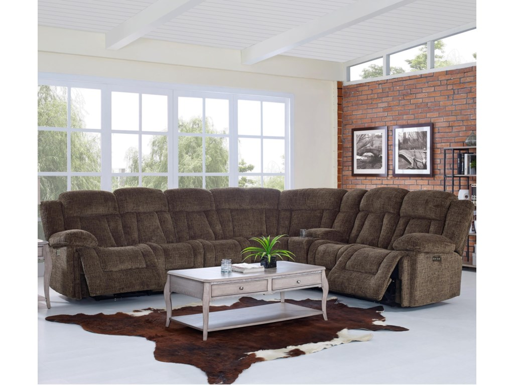 New Clic Laura Reclining Sectional Sofa