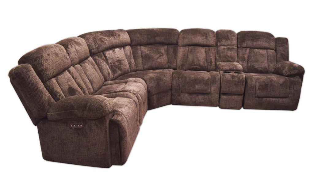 Maddox Casual Power Reclining Sectional Sofa with Power Headrests