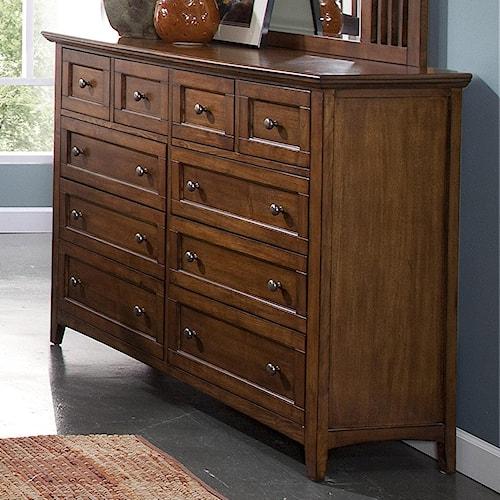 New Classic Logan Ten-Drawer Dresser