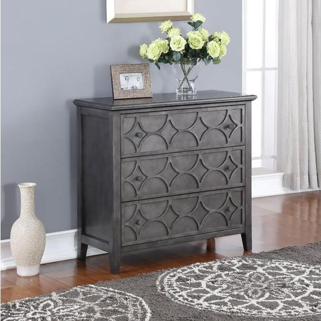 New Classic Lucia Lucia Storage Console Table With Antiqued Finish