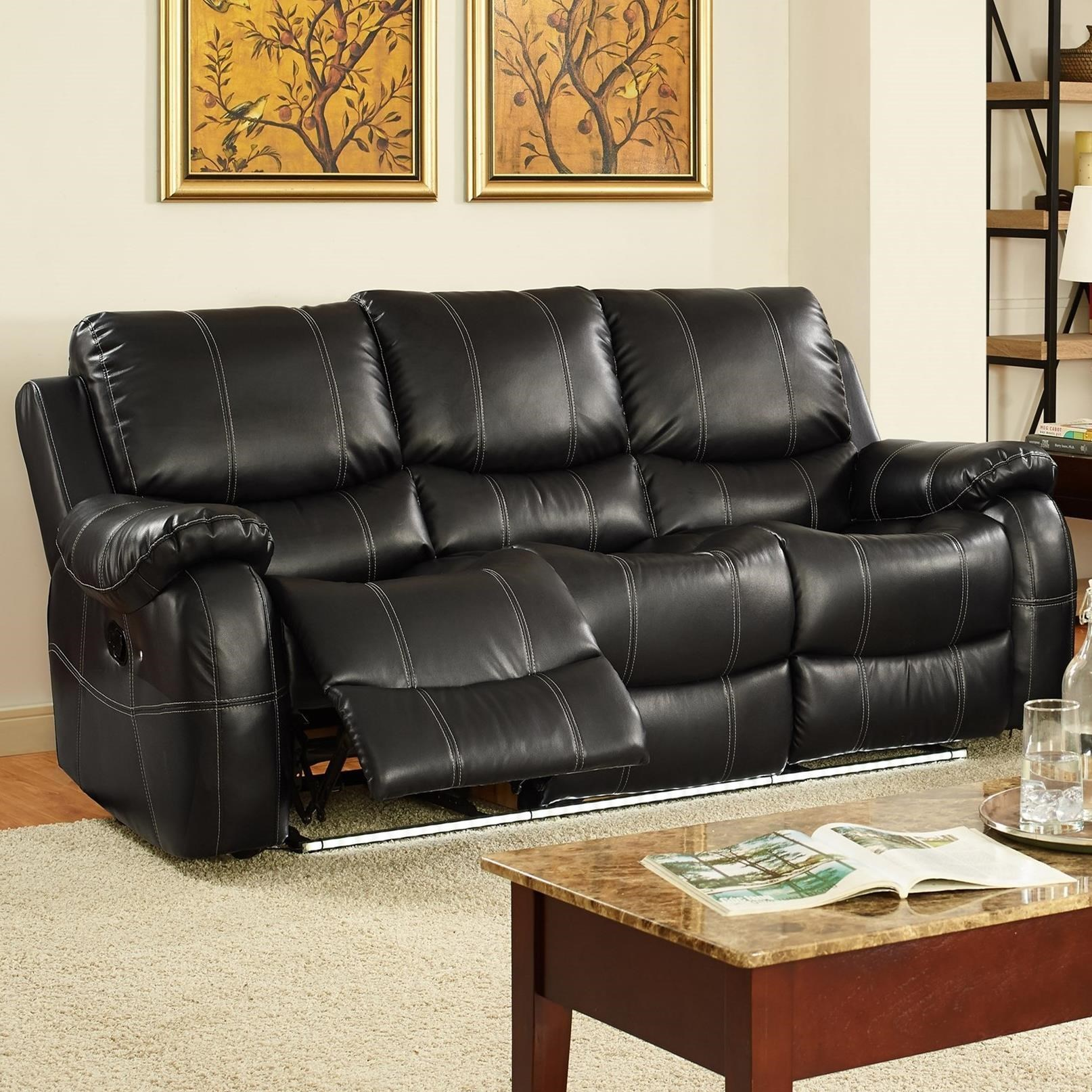 New Classic Lynx Casual Dual Reclining Sofa With Lighted Base Part 94