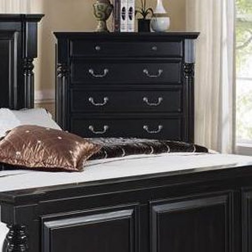 New Classic Martinique Bedroom Transitional 6 Drawer Chest