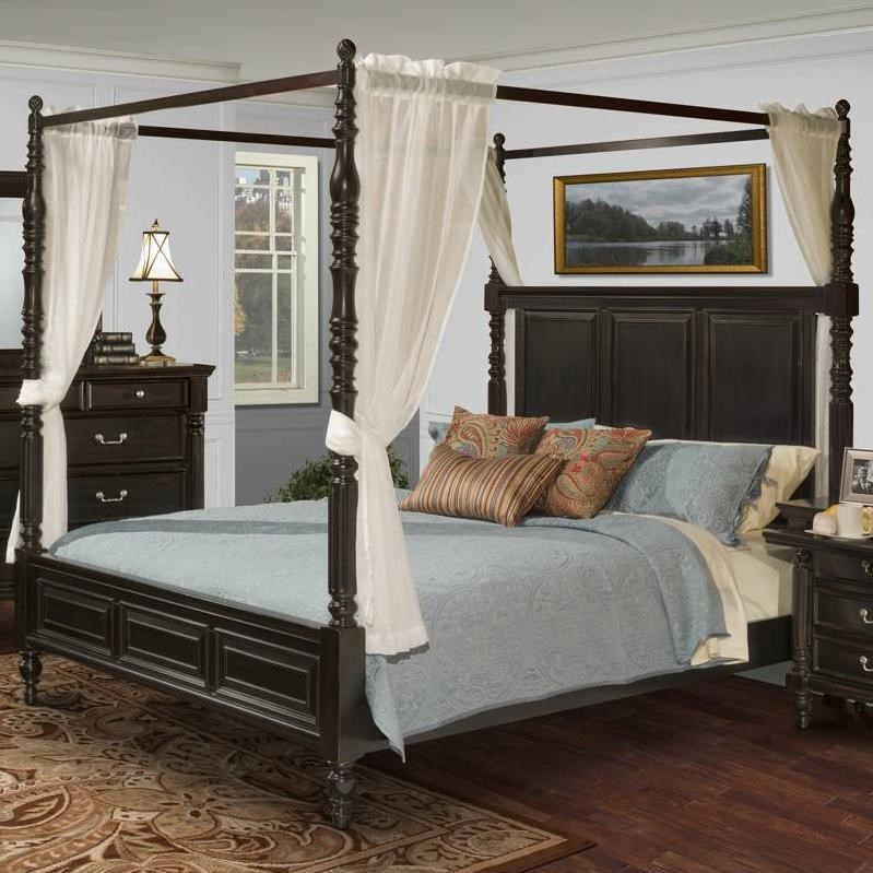martinique bedroom transitional king canopy bed lapeer furniture