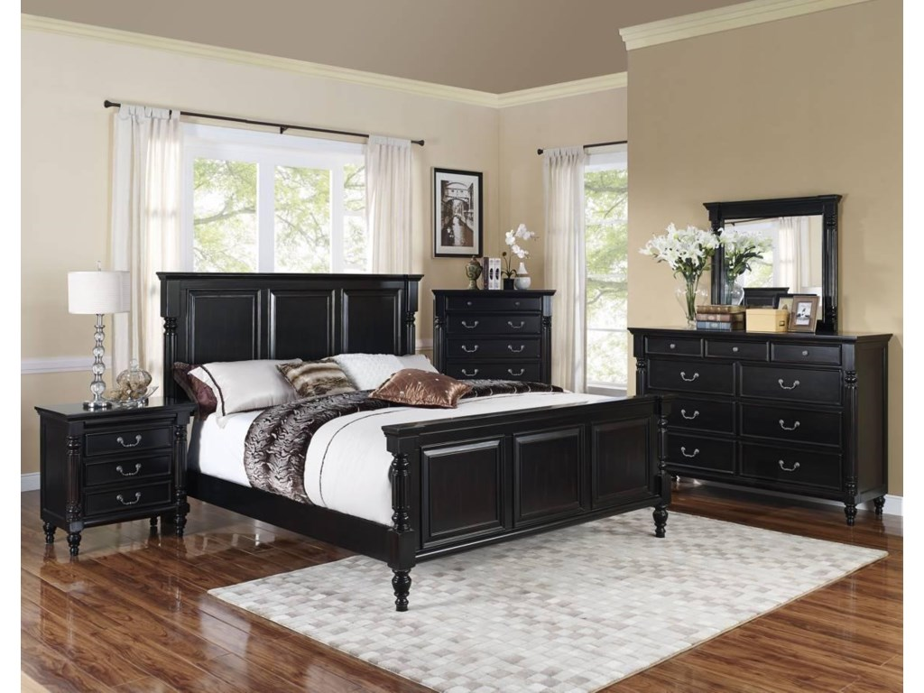 New Classic Martinique BedroomCalifornia King Panel Bed