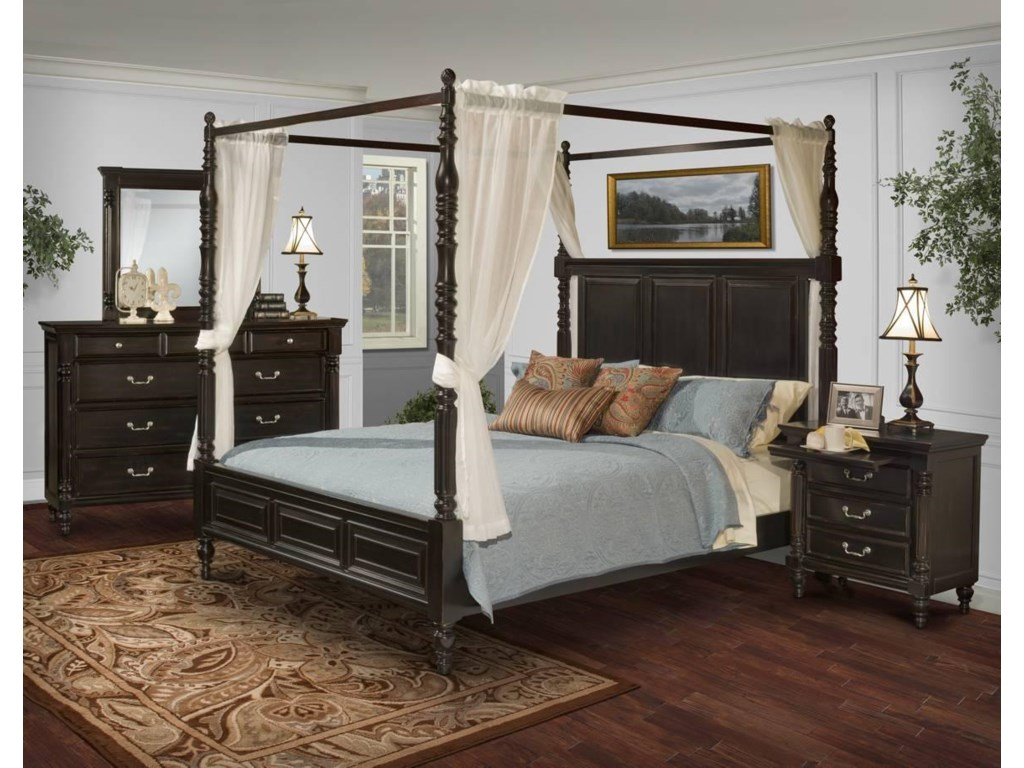 New Classic Martinique BedroomQueen Canopy Bed