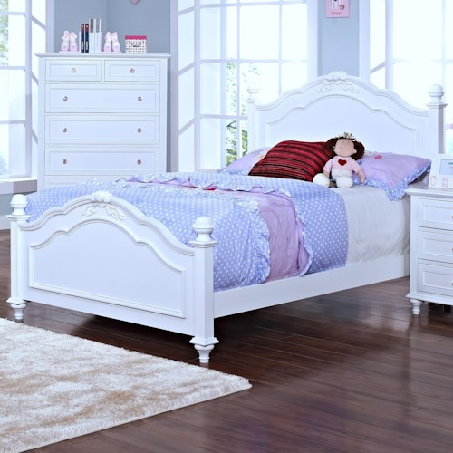 New Classic Megan Casual Full Panel Bed