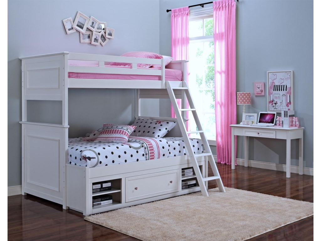 New Classic MeganTwin/Full Bunkbed with Storage