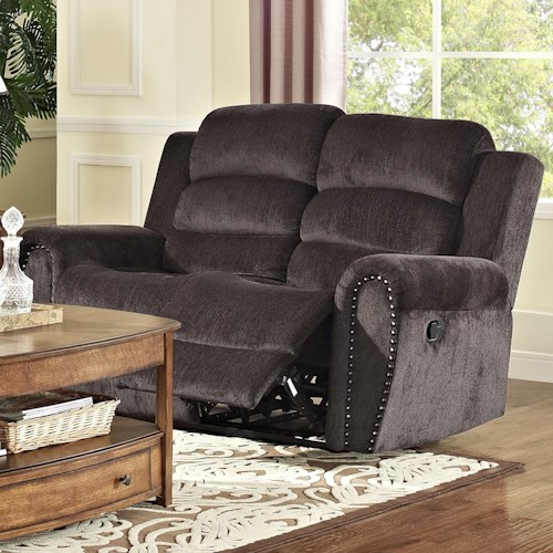 New Classic Merritt Casual Reclining Loveseat with Split Back Cushions