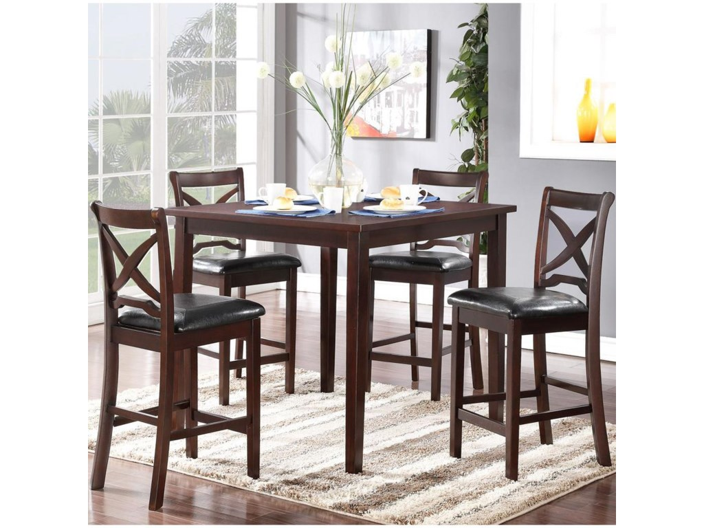 New Classic Milo5PC Counter Height Table & Chair Set