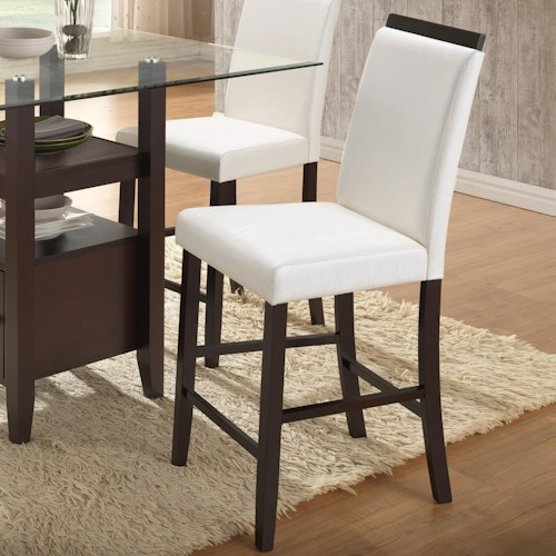 New Classic Natasha Boris Parson Counter Stool with Exposed Wood Seat Back Top