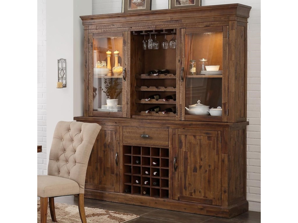 New classic normandy china cabinet with touch lighting and wine racks dunk bright furniture china cabinets