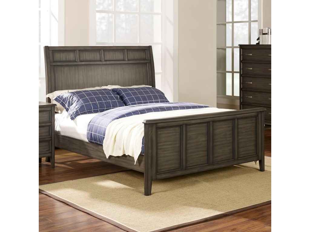 New Classic Richfield SmokeQueen Panel Bed