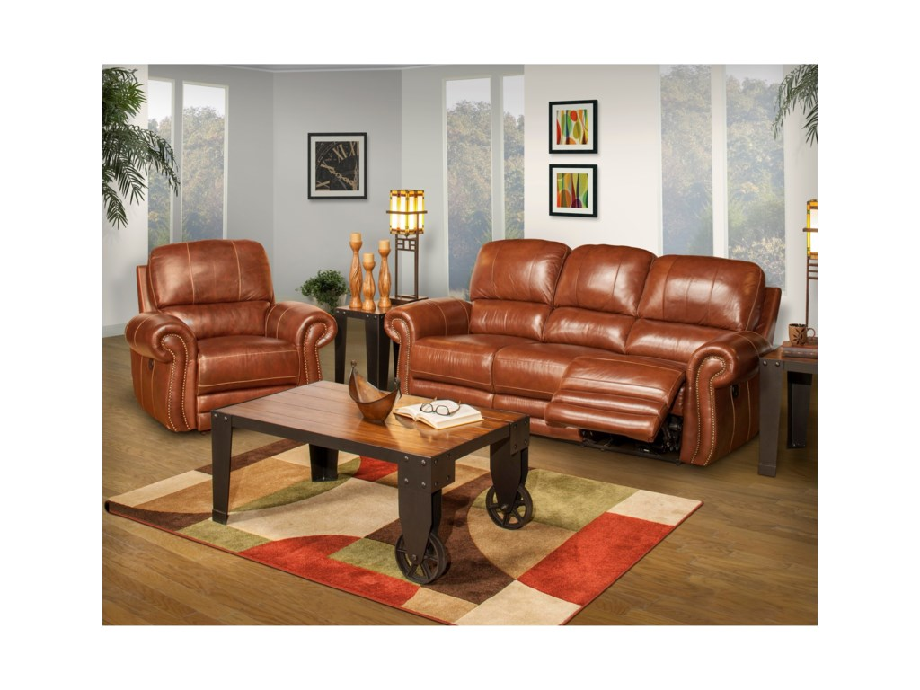 New Classic RossiPower Reclining Living Room Group