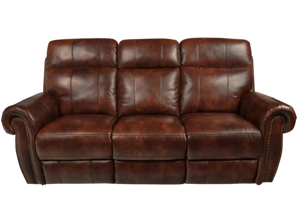 Omak Traditional Reclining Sofa With Footrest And Nail Head Trim By New Creation At Walker S Furniture