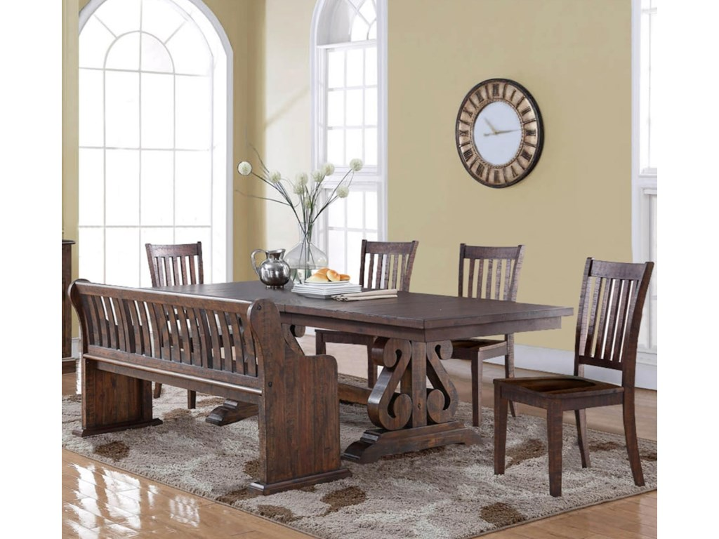 New Clic San Juansix Piece Dining Table Set