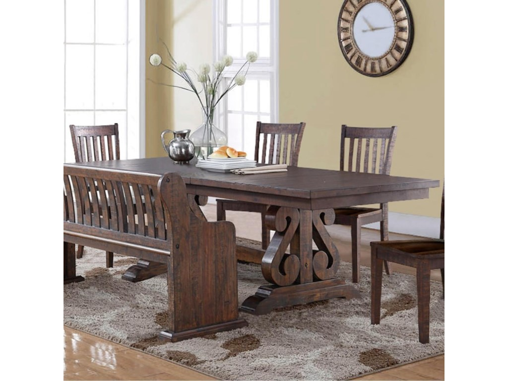 New Classic San Juan Trestle Dining Table with Butterfly Leaf ...